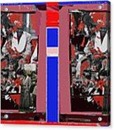 James Earl Jones Smoking Twice Collage The Great White Hope Set Globe Arizona 1969-2012 Acrylic Print