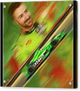James Hinchcliffe Acrylic Print by Blake Richards
