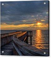 James River Sunset Riverview Pier Acrylic Print