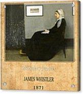 James Whistler 1 Acrylic Print