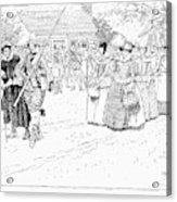 Jamestown Women, 1621 Acrylic Print