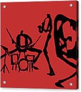 Jammin Jazz On Red Acrylic Print