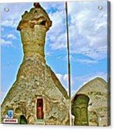 Jandarma Or Police Station In A Fairy Chimney In Cappadocia-turkey  Acrylic Print
