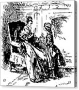 Jane Eyre Illustration Acrylic Print by
