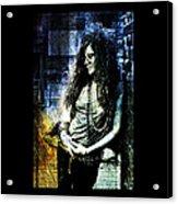 Janis Joplin - Blue Acrylic Print