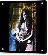 Janis Joplin - Gold Acrylic Print