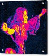 Janis Joplin Psychedelic Fresno 2 Acrylic Print by Joann Vitali