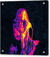 Janis Joplin Psychedelic Fresno  Acrylic Print by Joann Vitali