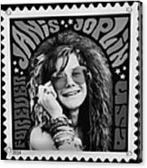 Janis Stamp In A Black And White Vibe Acrylic Print