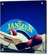 Jantzen Girl Acrylic Print by Gail Lawnicki