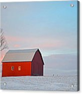 January Barn Acrylic Print