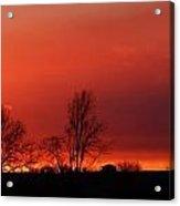 January Evening Skies Acrylic Print