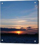 January Sunset 2 Acrylic Print