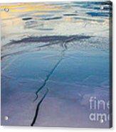 January Sunset On A Frozen Lake Acrylic Print