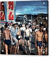 Japan At The Beach  Acrylic Print