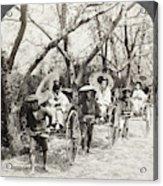 Japan Jinrikshas, 1907 Acrylic Print