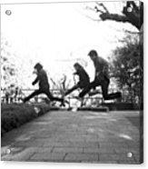 #japan #jump #people#newyear Acrylic Print