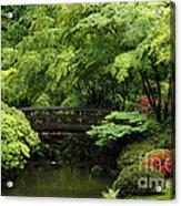 Japanes Garden Reverie Portland Oregon Acrylic Print
