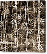 Japanese Bamboo Sepia Grunge Acrylic Print