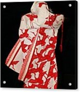 Japanese Bride In Paper Acrylic Print