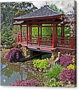 Japanese Bridge At Emu Valley Acrylic Print