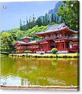 Japanese Byodoin Temple Acrylic Print