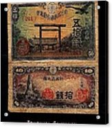 Japanese Currency From World War II Acrylic Print
