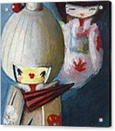 Japanese Dolls Acrylic Print