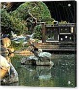 Japanese Garden At Sundown Acrylic Print