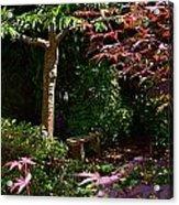 Japanese Garden Bench Acrylic Print