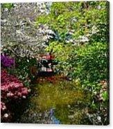 Japanese Garden In Bloom Acrylic Print