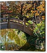 Japanese Garden In Fall Acrylic Print by Iris Greenwell