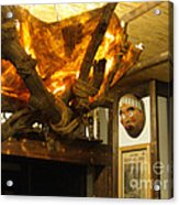 Japanese Handmade Chandelier With Mask And Plates Acrylic Print