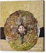 Japanese Maple Mandala Acrylic Print