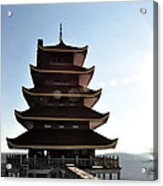 Japanese Pagoda Reading Pa Acrylic Print