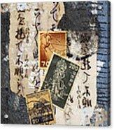 Japanese Postage Three Acrylic Print by Carol Leigh