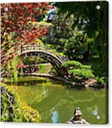 Japanese Spring - The Japanese Garden Of The Huntington Library. Acrylic Print