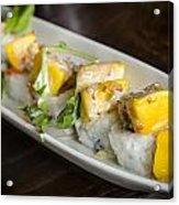 Japanese Sushi Rolls With Mango Acrylic Print