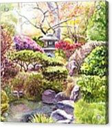 San Francisco Golden Gate Park Japanese Tea Garden  Acrylic Print