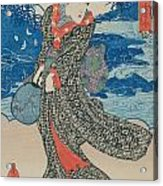 Japanese Woman By The Sea Acrylic Print