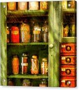 Jars - Ingredients II Acrylic Print by Mike Savad