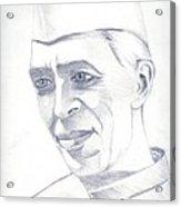 Jawaharlal Nehru Acrylic Print