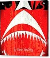 Jaws Minimalist Poster  Acrylic Print