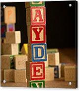Jayden - Alphabet Blocks Acrylic Print