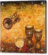 Jazz ... Acrylic Print by Draia Coralia