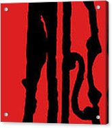 Jazz Bass In Red Acrylic Print