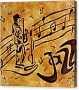 Jazz Coffee Painting Acrylic Print