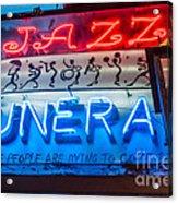 Jazz Funeral And Lamp Nola Acrylic Print
