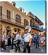 Jazz Funeral...the Second Line   Acrylic Print