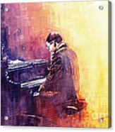 Jazz Herbie Hancock  Acrylic Print by Yuriy  Shevchuk